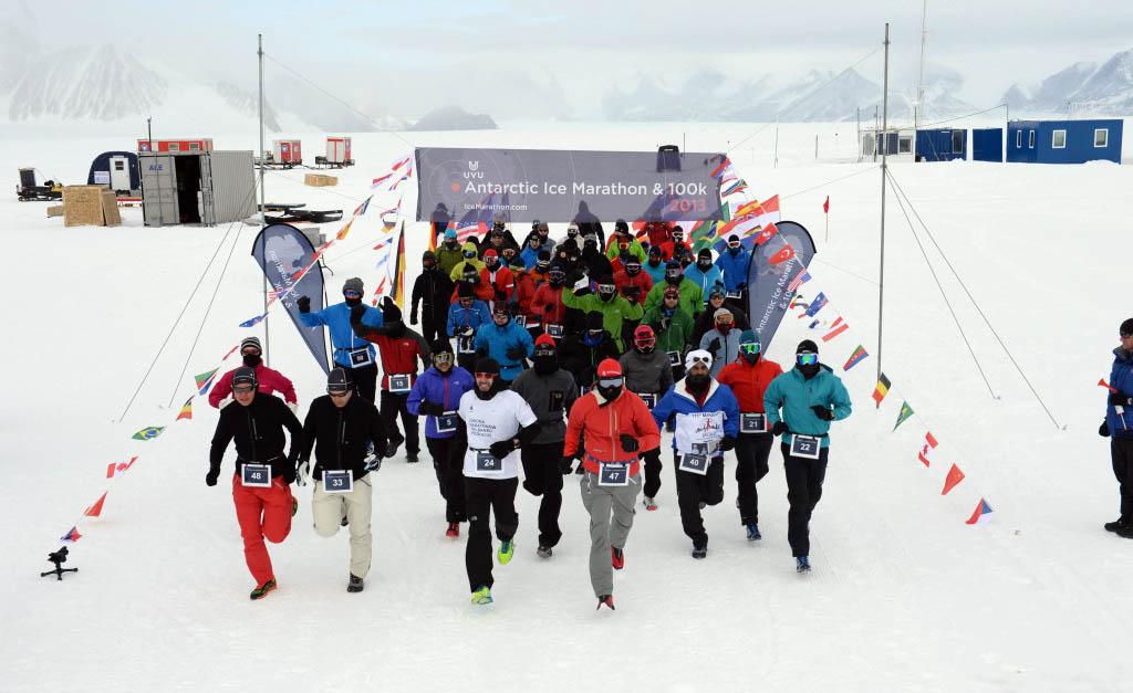 антарктика бег, ice marathon