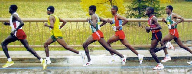 Техника бега африканских бегунов, фазы бега