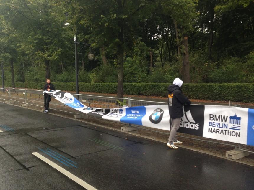 марафон Берлин, перекрытие доро