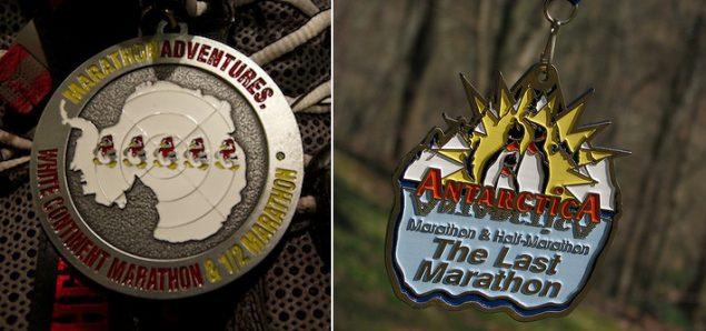 Antarctica Marathon and Half medals