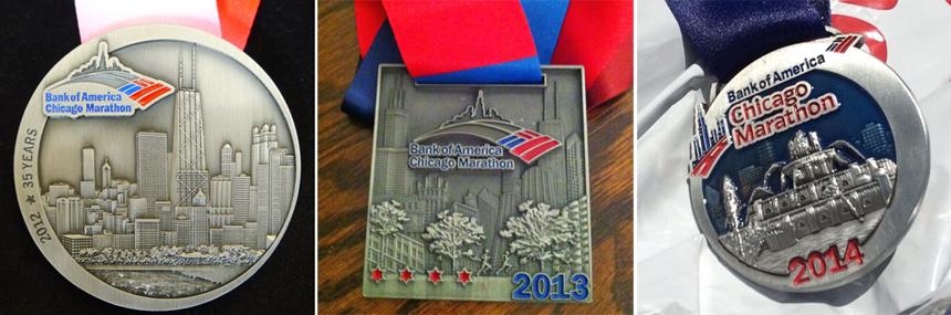 Медали марафона в Чикаго