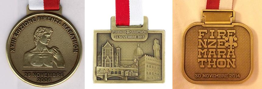 Медали марафона во Флоренции