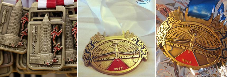 Медали марафона во Франкфурте
