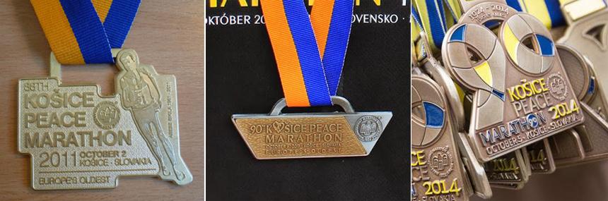 Медали марафона в Кошице