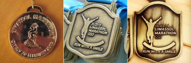 Limassol Half marathon medals