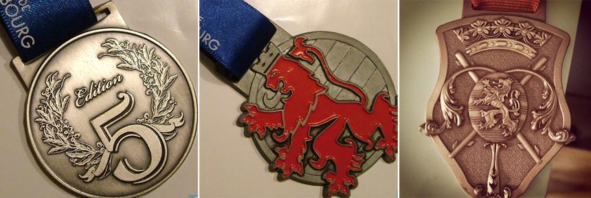 Luxembourg Half marathon medals
