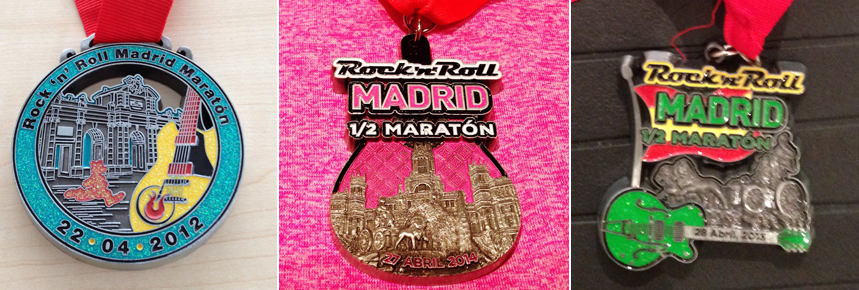 Rock 'n Roll Madrid Marathon Medals