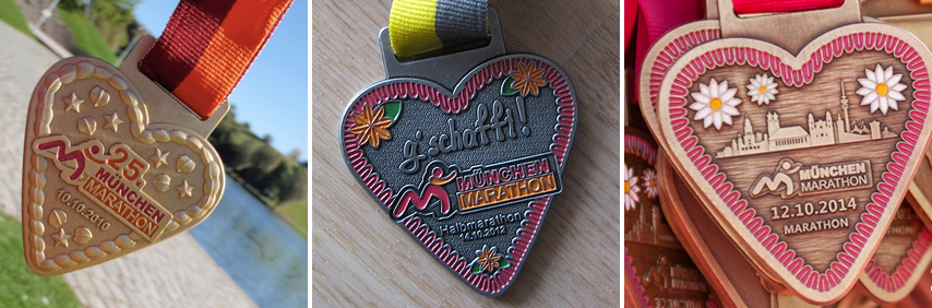 Медали марафона в Мюнхене
