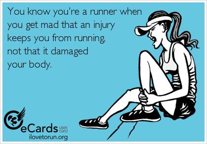 Вольный перевод: «Ты бегун, если тебе причиняет боль не травма, а необходимость