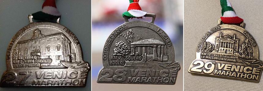 Медали марафона в Венеции