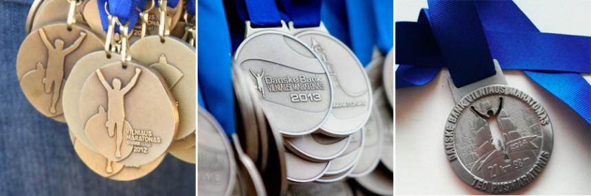 Медали марафона в Вильнюсе