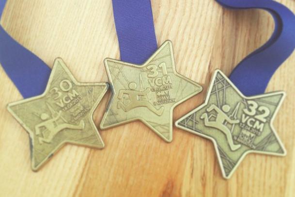 «Эволюция» медали венского полумарафона