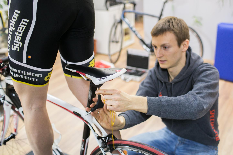 Подгонка посадки велосипедиста