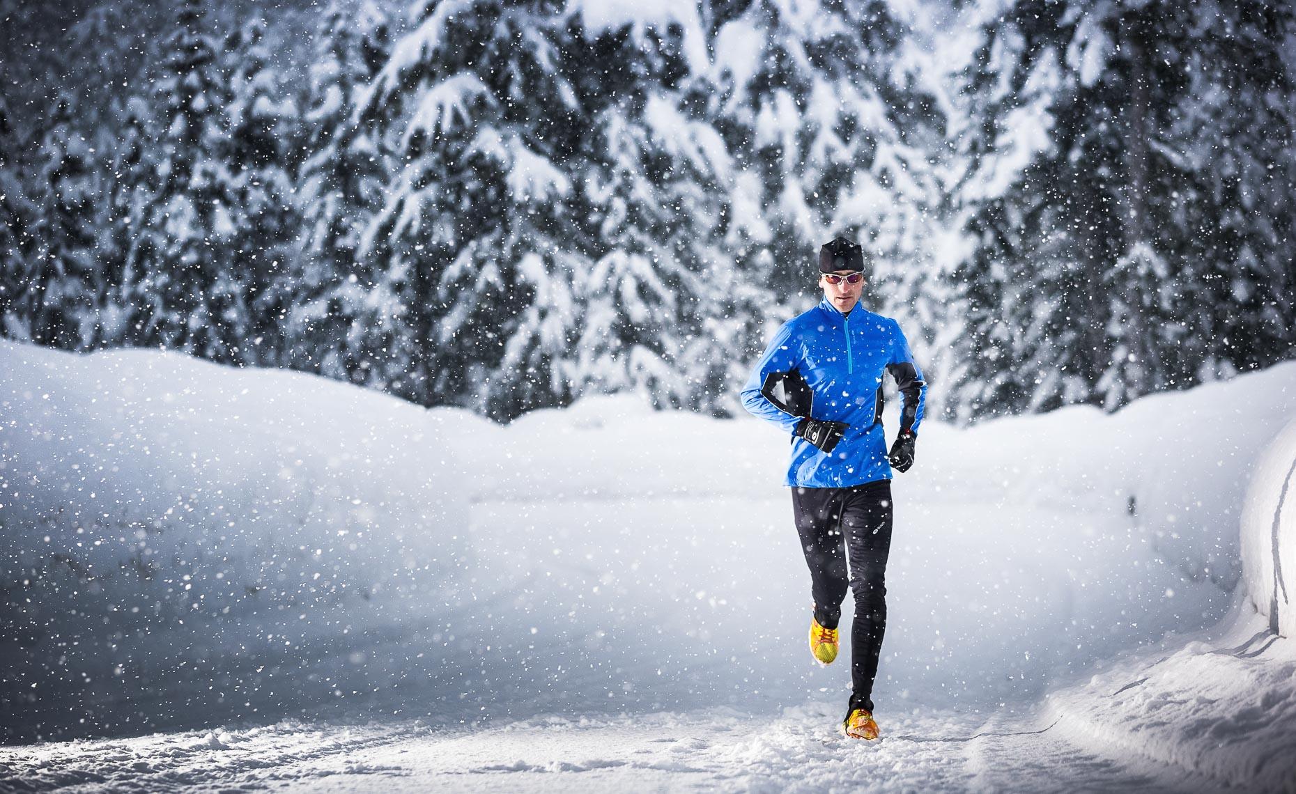 Дыхание во время бега зимой 1