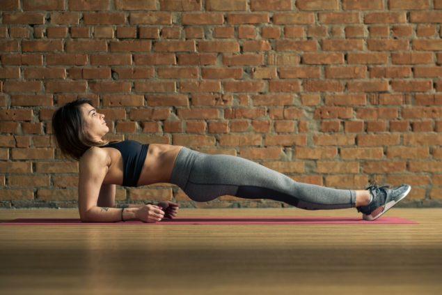 упражнения для бегунов: обратная планка
