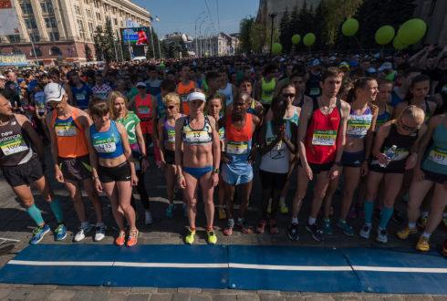 Люди до и после марафона