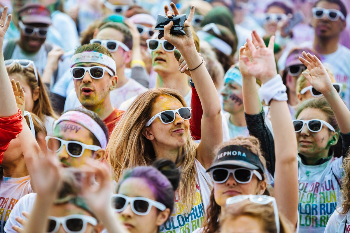 Забег Color Run в Париже
