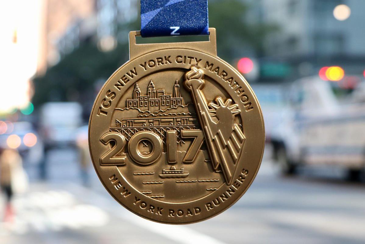 Нью-Йоркский марафон: медаль