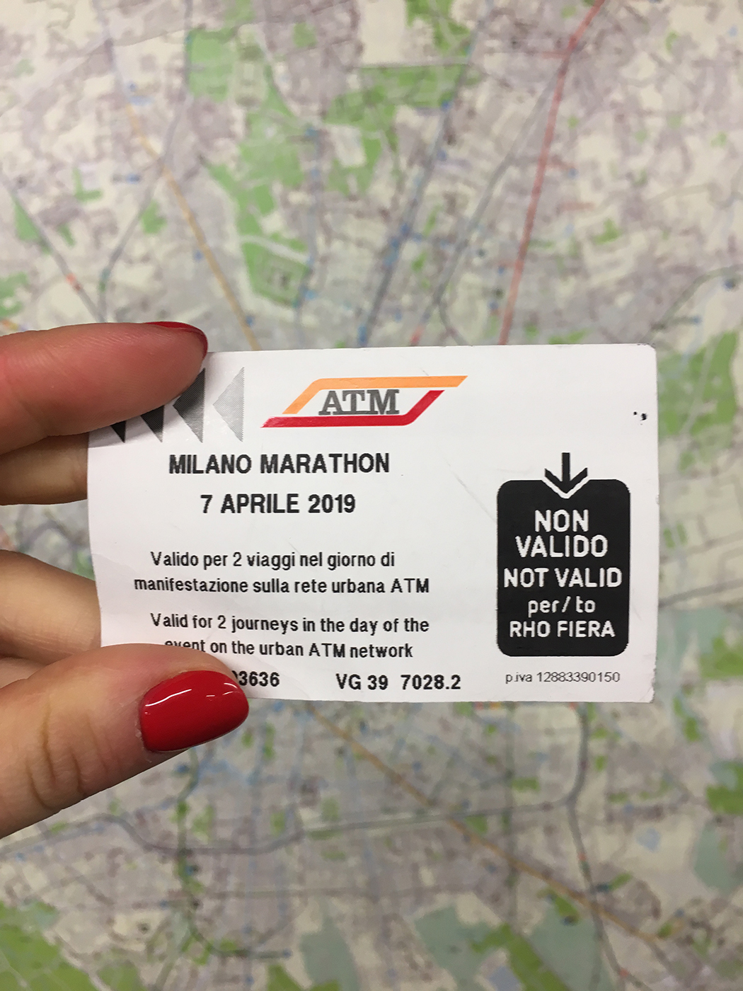 Отчёт о марафоне в Милане