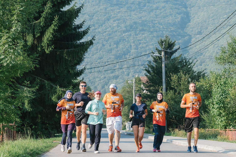 Боснія і Герцеговина на біговій карті Європи