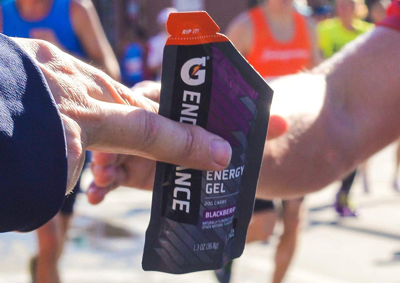 Энергетические гели и батончики для бегунов