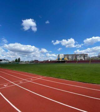 Стадионы Украины с новым легкоатлетическим покрытием