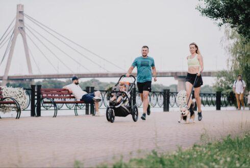 Где в Киеве удобно бегать с детской коляской